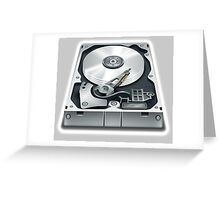 Hard Disk, Hard Drive, Computer, Storage, Files, Store Greeting Card