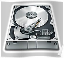 Hard Disk, Hard Drive, Computer, Storage, Files, Store Poster