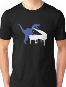 Velociraptor Playing Piano Unisex T-Shirt