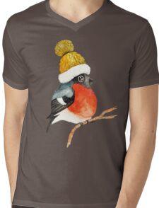 Christmas bird Bullfinch Mens V-Neck T-Shirt
