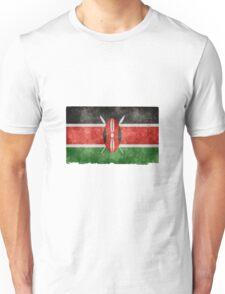 Kenyan Flag Grunge Effect Unisex T-Shirt