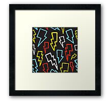 Colorful thunder bolts Framed Print