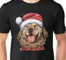 Labrador Retriever with Santa Claus Hat Unisex T-Shirt