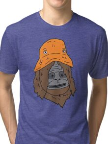 Sassy the sasquatch bucket hat Tri-blend T-Shirt