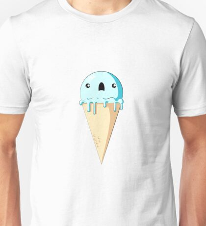 Scared Ice Cream Cone  Unisex T-Shirt