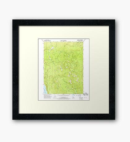 USGS TOPO Map California CA Childs Hill 289185 1966 24000 geo Framed Print