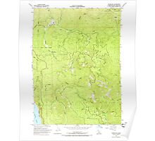 USGS TOPO Map California CA Childs Hill 289185 1966 24000 geo Poster