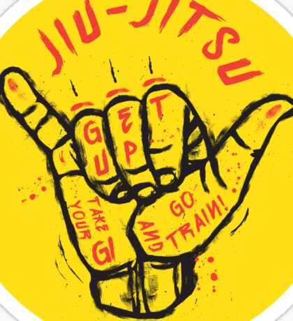 Jiu-jitsu. Go train! Sticker