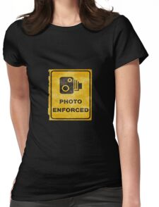 Photo Enforced Sign Womens Fitted T-Shirt