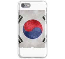 South Korean Flag Grunge Effect iPhone Case/Skin