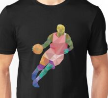 Polygon origami basketball player Unisex T-Shirt