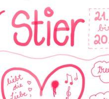 Sternzeichen Stier Sticker