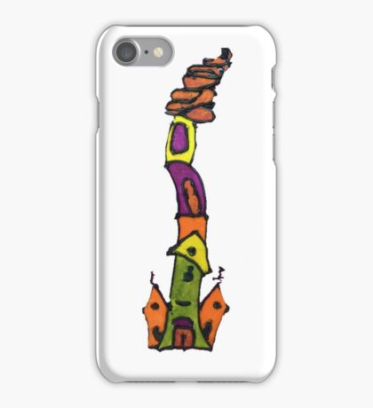 FUNNNY INSPIRATIONAL WHIMSICAL FOLK ART CHURCHES  iPhone Case/Skin