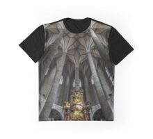 Very high medieval church with majestic ceiling. Interior. Salzburg, Austria. Graphic T-Shirt