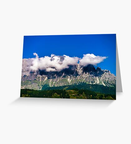 Beautiful mountain landscape view in Alps, Austria Greeting Card