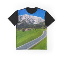Alpine countryside road in green fields, Austria Graphic T-Shirt