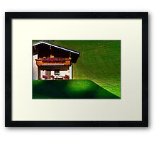 Guesthouse in calm place, mountains and nature, Austria, tourism concept Framed Print