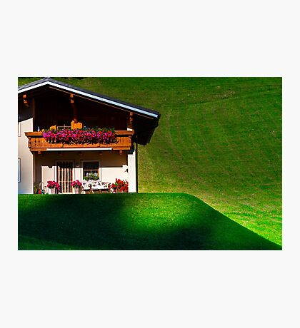 Guesthouse in calm place, mountains and nature, Austria, tourism concept Photographic Print
