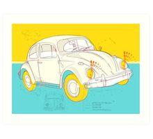 Volkswagon Beetle Art Print