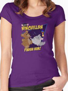 NinChillan - Finish Him! Women's Fitted Scoop T-Shirt