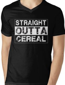 Straight Outta Cereal Funny Humor Breakfast Mens V-Neck T-Shirt