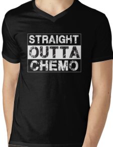 Straight Outta Chemo - Therapy Cancer Awareness Mens V-Neck T-Shirt