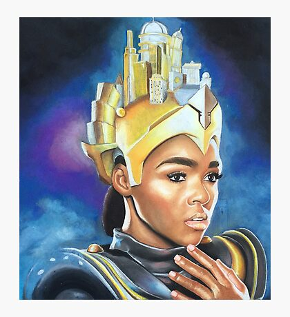 Janelle Monae by Jessi Queen (Full) Photographic Print