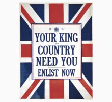 Vintage poster - Your King and Country Need You Baby Tee