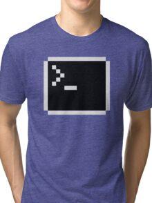 LInux computer screen Tri-blend T-Shirt