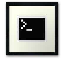 LInux computer screen Framed Print