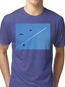 birds and airplane Tri-blend T-Shirt