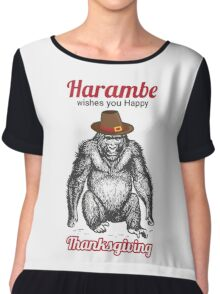 Harambe - Happy Thanksgiving Chiffon Top