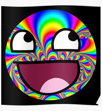 Psychedelic trollface Poster