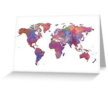 World map. 1 Greeting Card