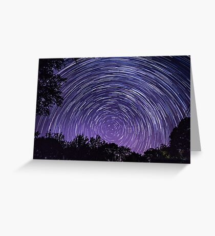 Spinning Stars Greeting Card