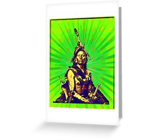 Psychedelic Rinehart Portrait Greeting Card