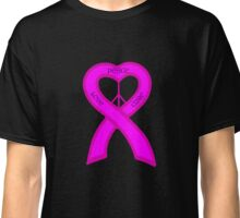 Peace Love Cure Breast Cancer Pink Ribbon Classic T-Shirt