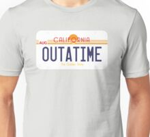 Outatime License Plate Unisex T-Shirt