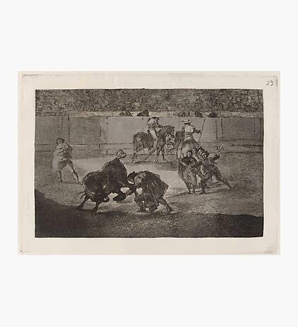 Francisco de Goya   Pepe Illo haciendo el recorte al toro Pepe Illo Making the Pass of the 'Recorte' Photographic Print