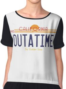 Outatime License Plate Chiffon Top