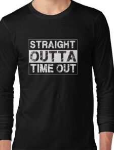 Straight Outta Time Out - Funny Kids Long Sleeve T-Shirt