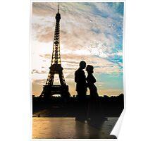 dark paris love Poster