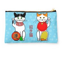 Maneki neko (Japanese lucky cat) Christmas card Studio Pouch