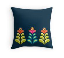 Betty's Garden [three flowers] Throw Pillow