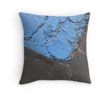 Blue Asphalt 13C Throw Pillow