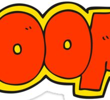 cartoon boom symbol Sticker