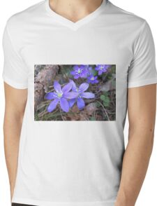 More Blue Wood Anemones Mens V-Neck T-Shirt