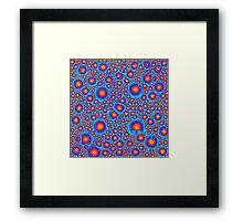 Blue And Orange Bubbles Framed Print
