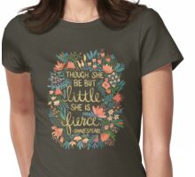Little & Fierce on Kraft Womens Fitted T-Shirt