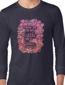 Little & Fierce – Pink Ombré Long Sleeve T-Shirt